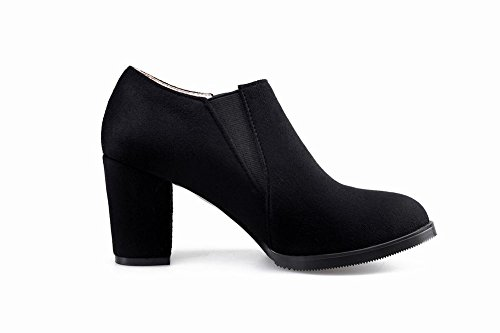 Mee Shoes Damen chunky heels Strass ankle Boots Schwarz