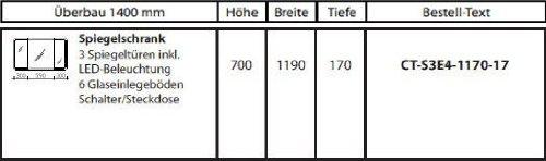 Spiegelschrank Contea von Pelipal – 119 cm - 4