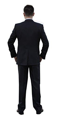 Keskin Collection Herren Anzug Schwarz alle Größen vorhanden inkl Graus Hemd für Kurze Zeit Schwarz