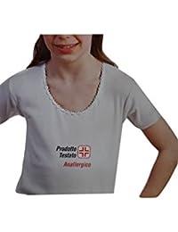 Leable 3 Pezzi T-Shirt Bimba Manica Corta Cotone Felpato Art 236 Bianco 732a1b3bd28