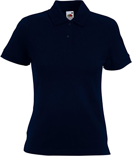 Fruit Of The Loom Damen/Frauen Kurzarm Polo Shirt (S) (Dunkles Marineblau) S,Dunkles - Frauen Polo-shirts