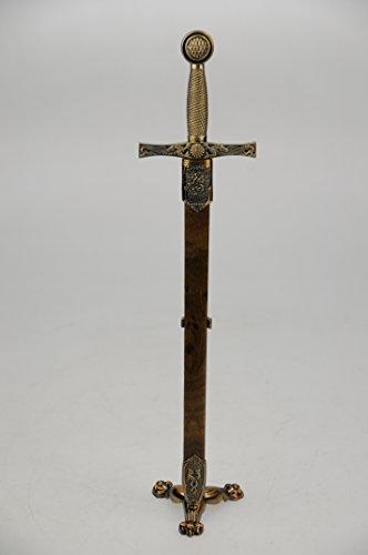 Brieföffner EXCALIBUR, Schwert Drache, mit mess. Ständer und Scheide