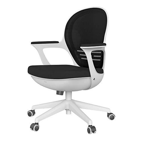 Hbada Schreibtischstuhl leicht Bürostuhl platzsparender Drehstuhl ergonomisches Design einteiliger Computerstuhl Schwarz