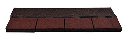Bitumenschindeln Dachschindeln Rechteck Schindel Dachpappe Bitumen rot gefl. 2,32 m²