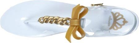 Fergalicious, Mules pour Femme White/Gold Synthetic