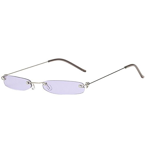 Merical le donne uomo vintage trasparente piccola struttura retro occhiali da sole eyewear fashion