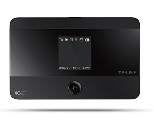 TP-LINK M7350 - 4G LTE Cellular Router (2.4GHz or 5GHz dual band, supports up to 10 devices simultaneously), black color width =