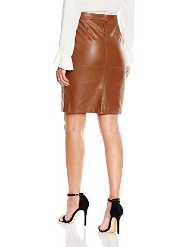 Vila Damen Rock Vipen New Skirt-Noos Braun (Oak Brown Oak Brown)
