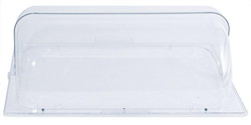GN-Rolltop Abdeckhaube aus glasklarem Polycarbonat, geeignet für den Aufsatz auf GN 1/1 Chafing Dishes / 54 x 33,5 x 19 cm   ERK Erk 19