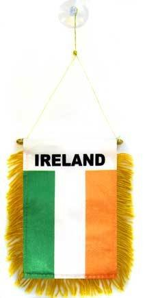 AZ FLAG Fanion Irlande 15x10cm - Mini Drapeau Irlandais 10 x 15 cm spécial Voiture - Bannière