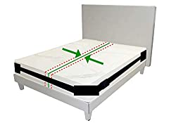 Broniks Matratzenhalter | Spanngurt- System für Matratzen | Anti- Rutsch- Gurt | Für bis zu 200 cm x 200 cm Betten | variabel einstellbar | Matratzen- Stopp | Halterung