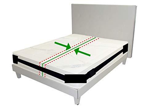 Vorteil Set Matratze (happy-life Matratzenhalter | Spanngurt- System für Matratzen | Anti- Rutsch- Gurt | Für bis zu 200 cm x 200 cm Betten | variabel einstellbar | Matratzen- Stopp | Halterung)