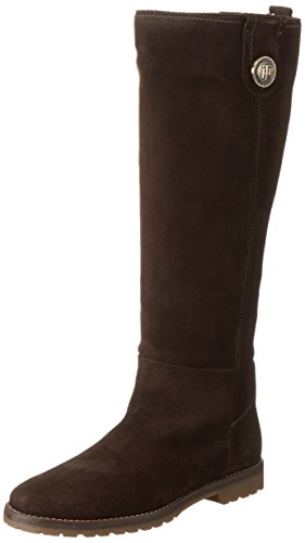 Tommy Hilfiger W1285endy 12b, Bottes hautes avec doublure froide femme Braun (coffeebean 212)