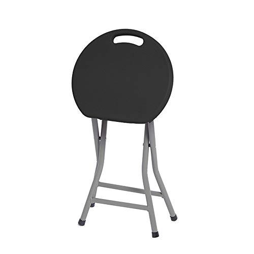 QGHLW Tragbare Hocker Folding tragbare Hocker, Kunststoff-Klapphocker mit schweren Stahlbeinen, 300 Pfunde Kapazität, Art und Weise kreative Klapphocker, beweglicher im Freien Freizeit-Stuhl