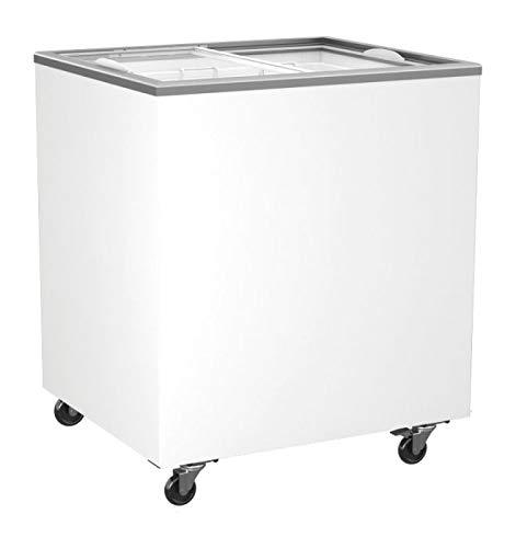 Tiefkühltruhe mit Glasschiebedeckel abschließbar 208 Liter Kühltruhe Gefriertruhe 763x653x904 mm Tiefkühltruhe mit Glasdeckel