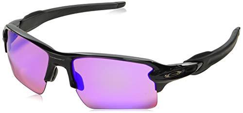 Oakley Herren Flak 2 Sonnenbrille, Schwarz (Polished Black/Prizmgolf), 59 mm