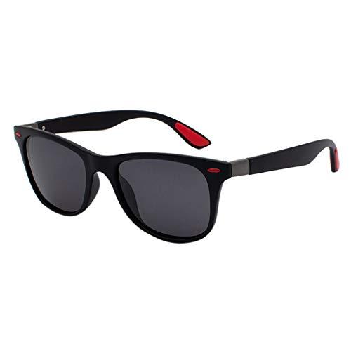Lazzboy Polarisierte Sonnenbrille Für Frauen Mann Verspiegelte Linse Mode Brille Brillen Herren & Damen Sonnenbrillen Original Unisex - Farben, Verspiegelt(B)