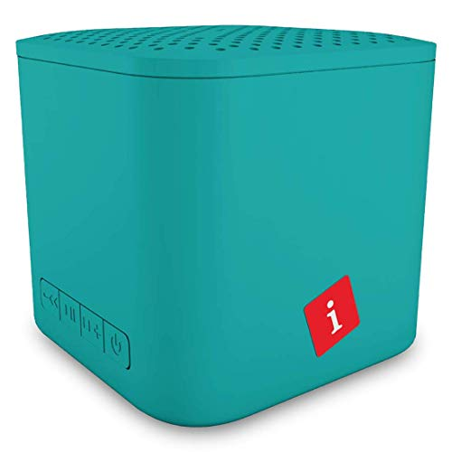 iBall Musi Play A1 Wireless Ultra-Portable Bluetooth Speakers with FM | Micro SD Card Slot & Built-in Mic (Aqua Blue)