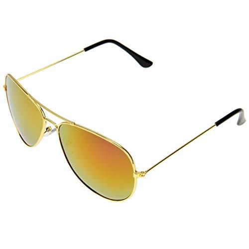 Easy Go Shopping UV400 UV-Schutz Metallrahmen AC-Objektiv Froschspiegel Brillen Sonnenbrillen (Artikelnummer : S-OG-1411R)