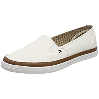 Tommy Hilfiger Damen Iconic Kesha Slip On Sneaker, Weiß (Whisper White 121), 39 EU