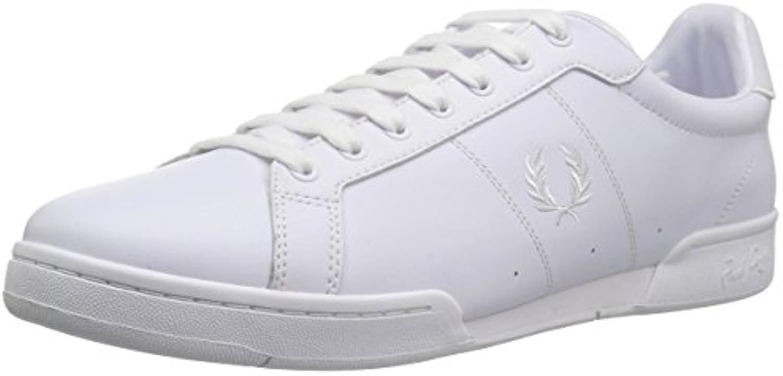 Fred Perry B7222 Leather   Herren Sneaker   White (Weiß)