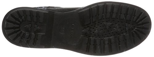 Geox Damen D Asheely G Biker Boots Schwarz (Black)