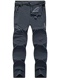 LY4U Pantalones elásticos para Hombre, de Secado rápido, Ligeros y de montaña ...