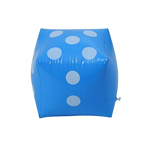Lomsarsh Dados inflables de 28 cm Jumbo Azul Punto Grande Diagonal Gigante...
