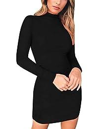 80f18d338296 Innerternet Vestito da Donna Pieghettato Sexy Mini Corta Orlo Tinta Unita  Slip Plissettata a Pieghe Elegante Vintage…