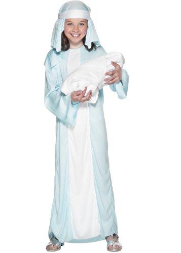 Kids Girls Mary Nativity Christmas Play Costume Size S (Kostüm)