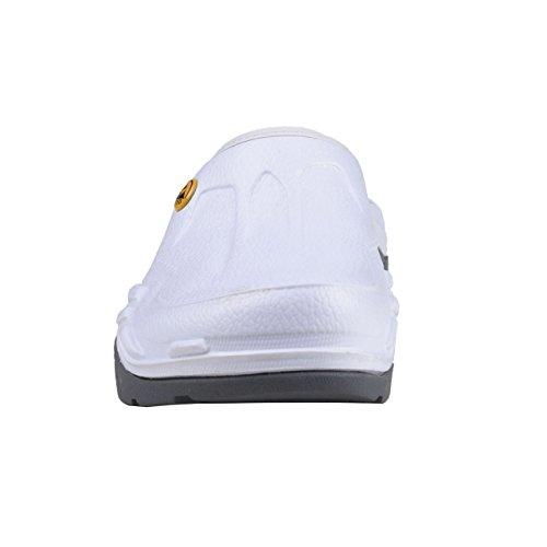 Wellness Comfort + Uomo Donna ESD Phylon zoccoli bianco Bianco