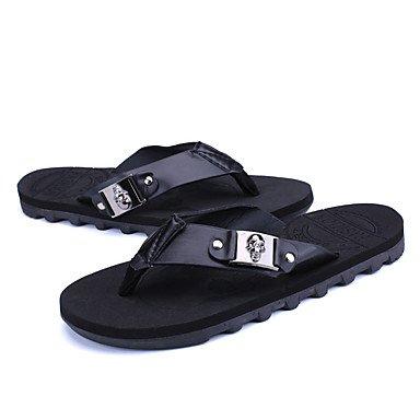 Slippers & amp da uomo;Estate con laccio dietro al Comfort PU all'aperto casual piani del tallone con borchie scarpe d'acqua sandali US7.5 / EU39 / UK6.5 / CN40