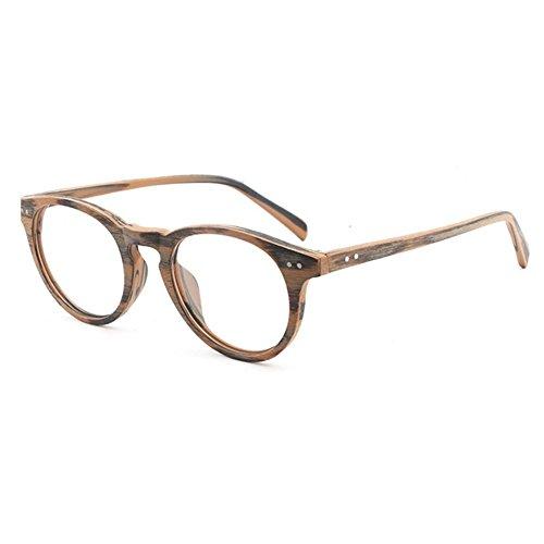 Unisex Optische Holz Durable Brillen mit Klare Linse für Frauen Männer