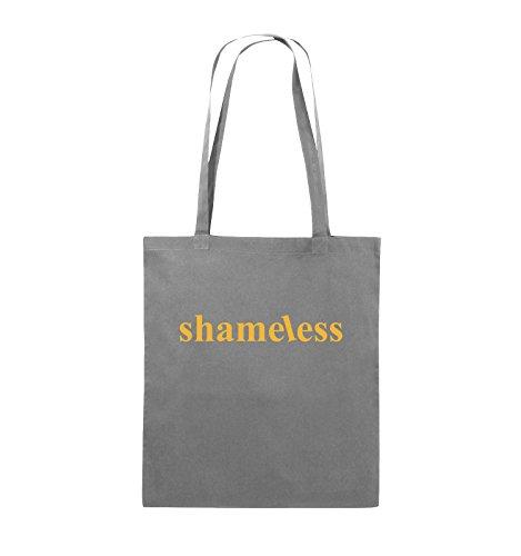 Comedy Bags - shameless - LOGO - Jutebeutel - lange Henkel - 38x42cm - Farbe: Schwarz / Silber Dunkelgrau / Gelb