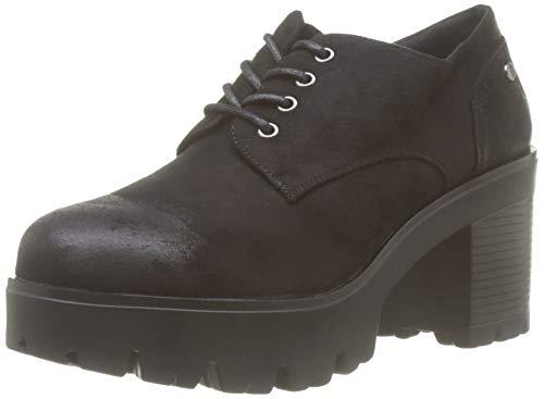 MTNG Collection 58639, Zapatos de Cordones Oxford para Mujer, Negro Antil Negro C35442, 38 EU