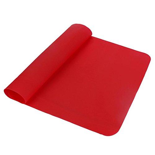 sunnymi Platzdeckchen Backblech Tischset Lsolierung Pads ✔ Hitzebeständiger Mat Untersetzer ✔ Tabelle Waschbares Dauerhaftes Rutschfestes Silikon (rot, 40*29.7CM)