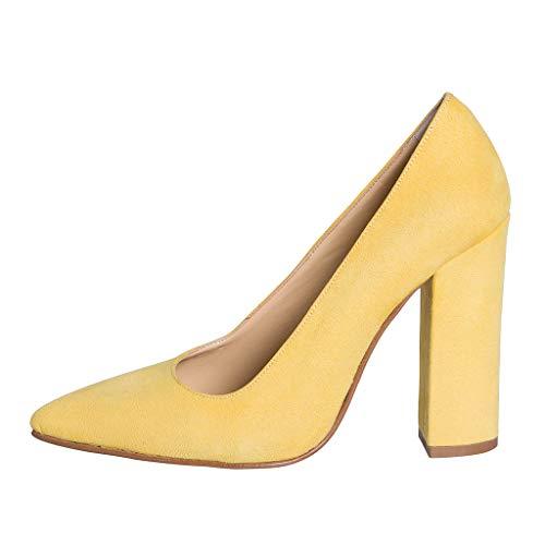 High Heels aus Camouflage gelb Größe 41 TACCO 10 cm Made IN Italy Studio ECG-04 -