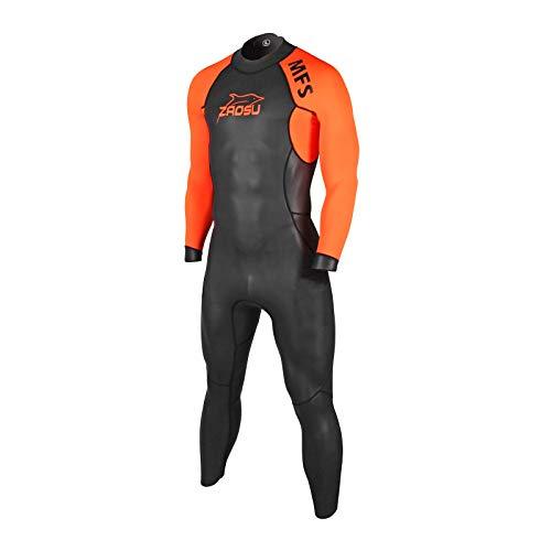 ZAOSU Herren MFS Neoprenanzug | Triathlon Wetsuit zum Freiwasser Schwimmen, Größe:L
