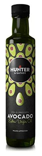 Hunter & Gather Oils Avocadoöl Kaltgepresst, 100% Rein, Zum Braten Und Grillen, Für Dips, Dressings Und Marinaden (1 x 250 ml) - Extra Virgin Avocado