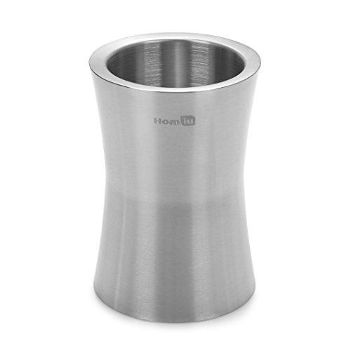 Homiu Weinkühler aus rostfreiem Stahl, mattes Finish, 2,5 Liter Fassungsvermögen, langlebige doppelwandige Isolierung für zusätzliche Kälte