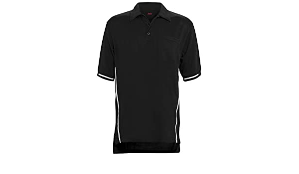 Adams USA Short Sleeve Baseball Umpire Shirt with Side Stripe Sized for Chest Protector Schutt ADMBB310
