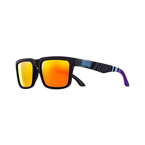 Vikimen Sportbrillen, Angeln Golfbrille,Sport Polarisiert Sunglasses Men Brand Designer Sunglass Mirrored UV400 Sun Glasses Women With All-Purpose Box CE Polarisiert Lense C7