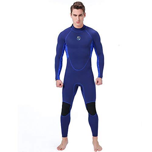 Neoprenanzug Herren Ganzarm 2 mm Tauchanzug mm Open Water Swimming Ironman-Badebekleidung zum Tauchen Schnorcheln Bootfahren Segeln,S