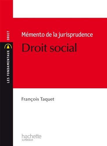 Mémento de jurisprudence en droit social (Les Fondamentaux t. 177) (French Edition)