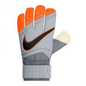 Nike Goal Keeper Gunn Cutt Guanti per giocatore, Uomo, Goalkeeper Gunn Cutt, grigio/arancione, 9.5 cm