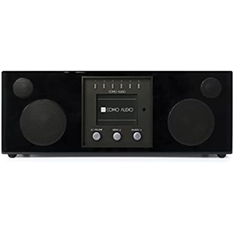 Como Audio Duetto Piano Nero (Singolo Stereo Cabinet)