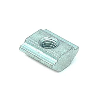3D Innovations T Nut M4 Threaded Pre Assembly T-Nut for 20x20 Aluminum Extrusions/Aluminum Profile (Qty: 25 pcs) (M4 (25pcs), Pre Assembly)