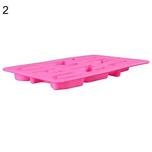 Ruby569y - Stampo in silicone per cubetti di ghiaccio, lettere inglesi per torte e biscotti, colore casuale 2