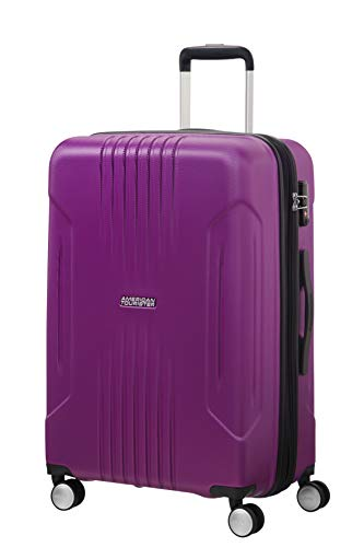 American Tourister Tracklite - Spinner Medium Expandable Bagaglio a mano, 67 cm, 82 liters, Viola (Purple)