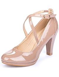 La Push Cala Zapatos Tacón Mujer Beige